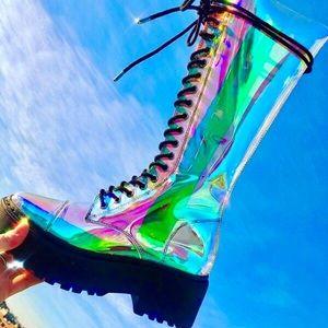 🦋 Dolls Kill 🌈 Cosmic Renegade Boots 💘